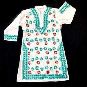 Embroidered Kurta Top Size Medium/Large